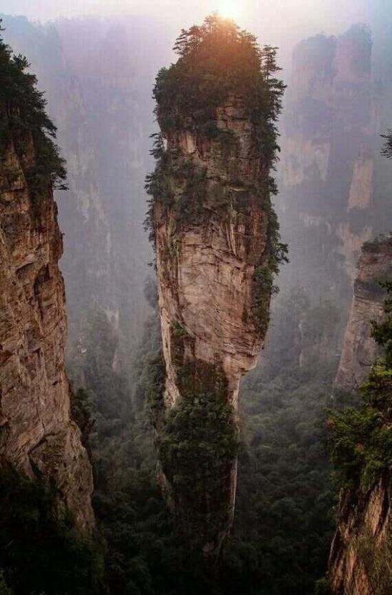 the Avatar Hallelujah Mountain in Yuanjiajie Scenic Area