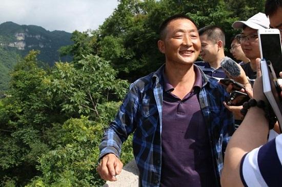 Qiyun Peng, the owner of Mountaintop Rice Field in Zhangjiajie