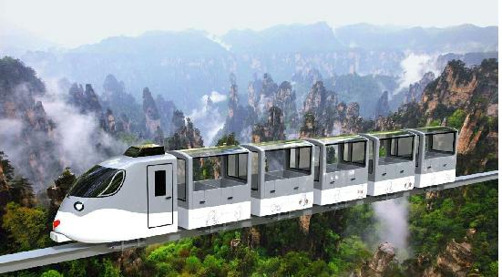 The Mini Rideable Train in Zhangjiajie Ten Mile Gallery