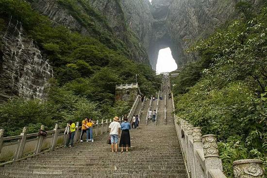 Zhangjiajie Tianmen Mountain Stairway to Heaven with 999 Steps