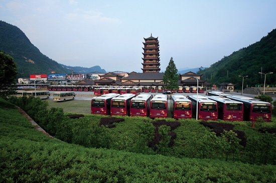 The Parking Lot of Wulingyuan Biaozhimen Ticket Station