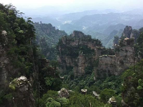 The Natural Great Wall in Yangjiajie Scenic Area