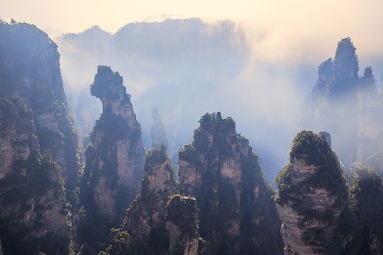 The Enchanting Stage in Yuanjiajie Scenic Area