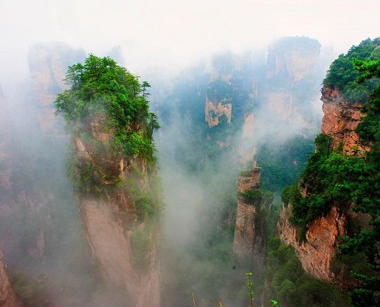 The Avatar Mountain in Yuanjiajie Scenic Area
